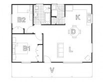 HUGHES design Coxs Cabin Floor Plan