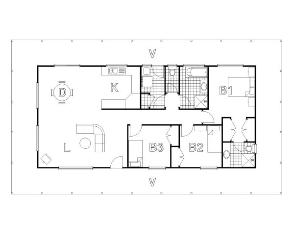 Lachlan homest australian house plans for House floor plans australia