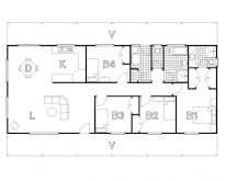 HUGHES design Turon Ranch Floor Plan