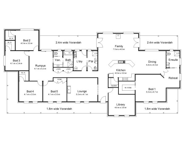 The bligh australian house plans for House floor plans australia