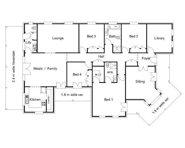 The brisbane australian house plans for House floor plans australia