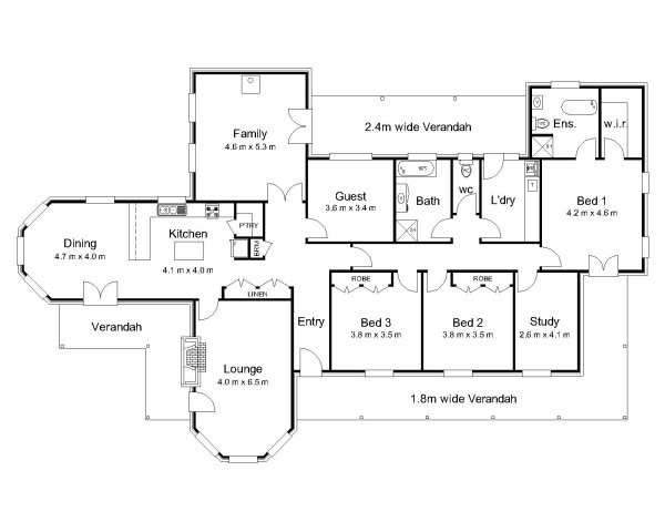 2 bedroom house plans with open floor plan australia for House plans australia