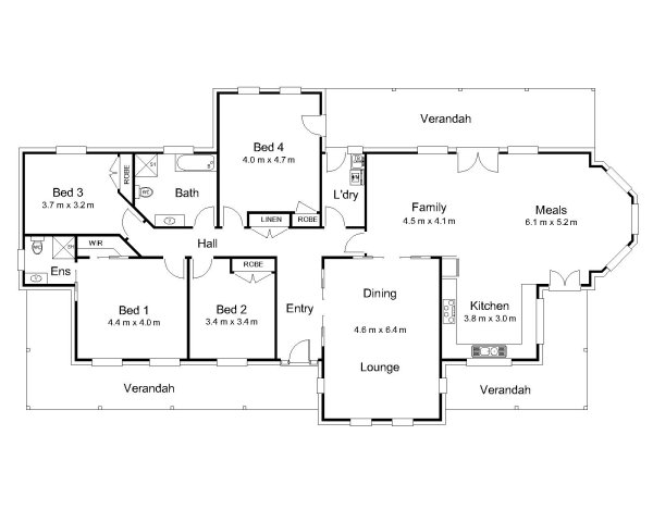 The denison australian house plans for Farmhouse floor plans australia