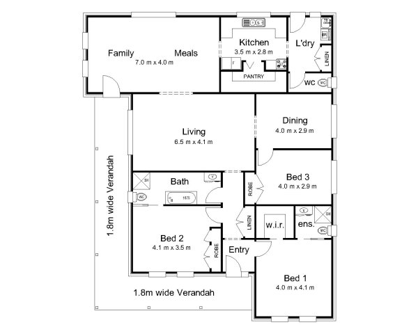The fitzroy australian house plans for House floor plans australia