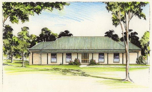 The hampden australian house plans for Colonial home designs australia