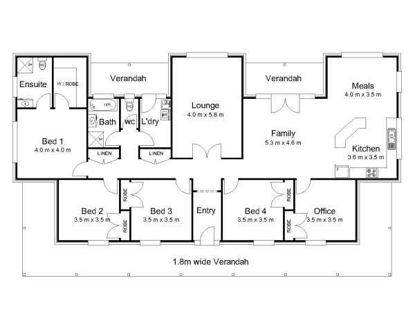 The Hampden Australian House Plans
