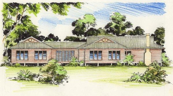 The pavilion australian house plans for Colonial home designs australia