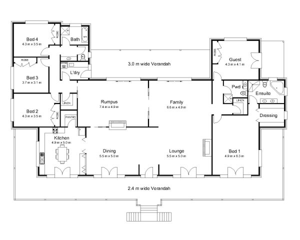 The rawson australian house plans for House floor plans australia