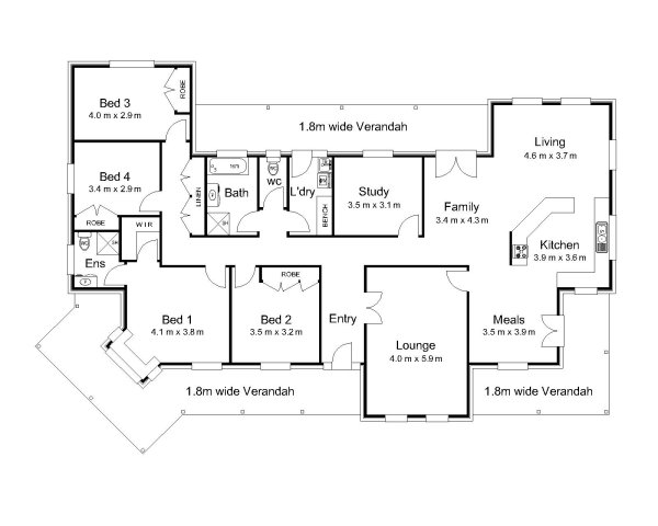 The strickland australian house plans for House floor plans australia