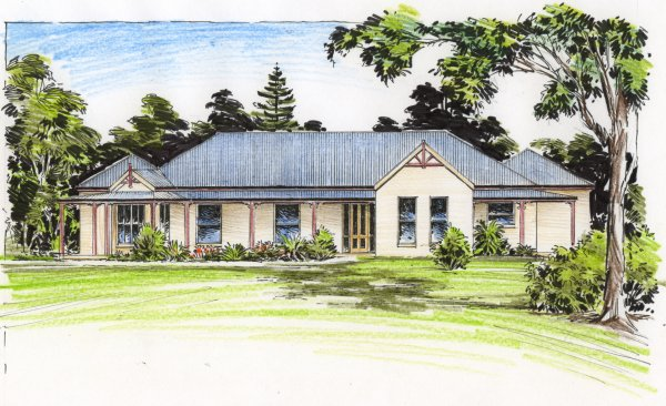 The wilkinson australian house plans for Colonial home designs australia