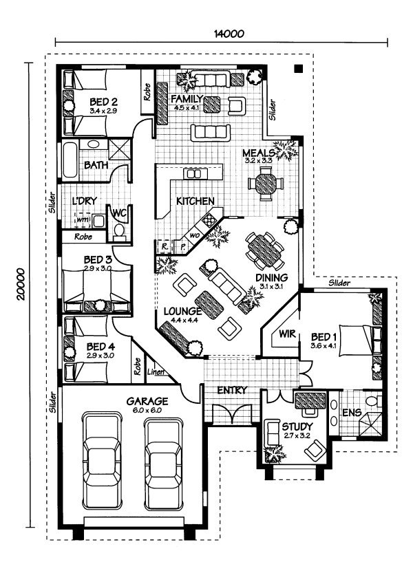 The arlington australian house plans for Free australian house designs and floor plans