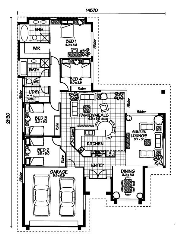 The bedarra australian house plans for House floor plans australia
