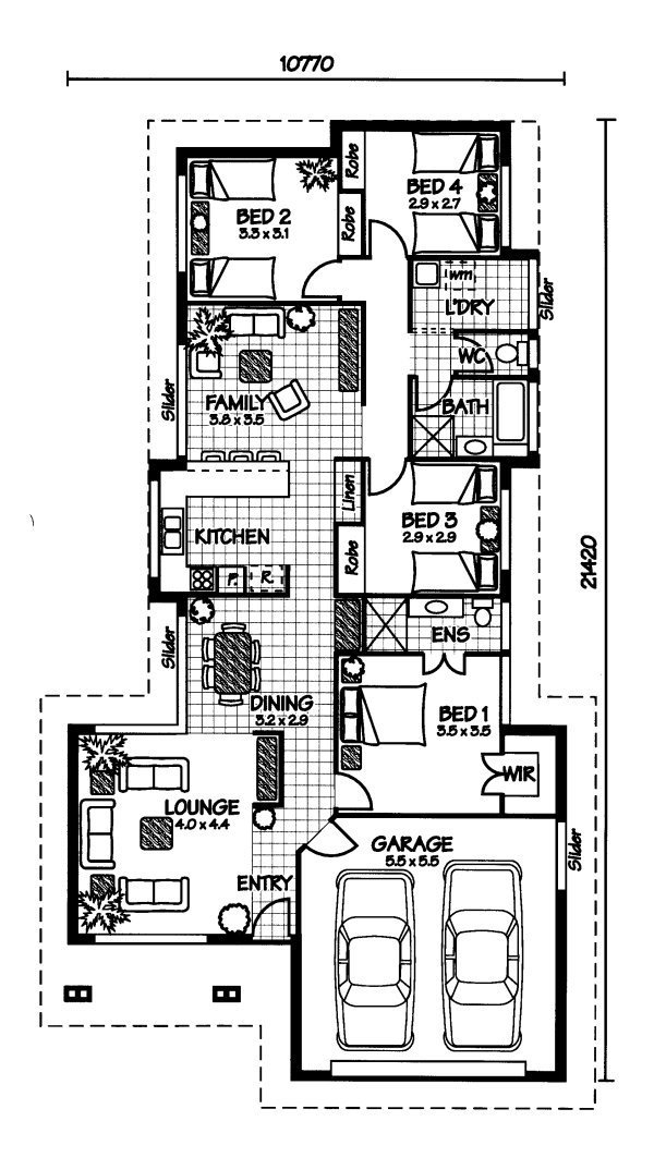 The brampton australian house plans for House floor plans australia
