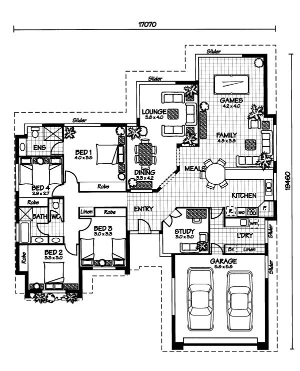 The flinders australian house plans for Home plans australia