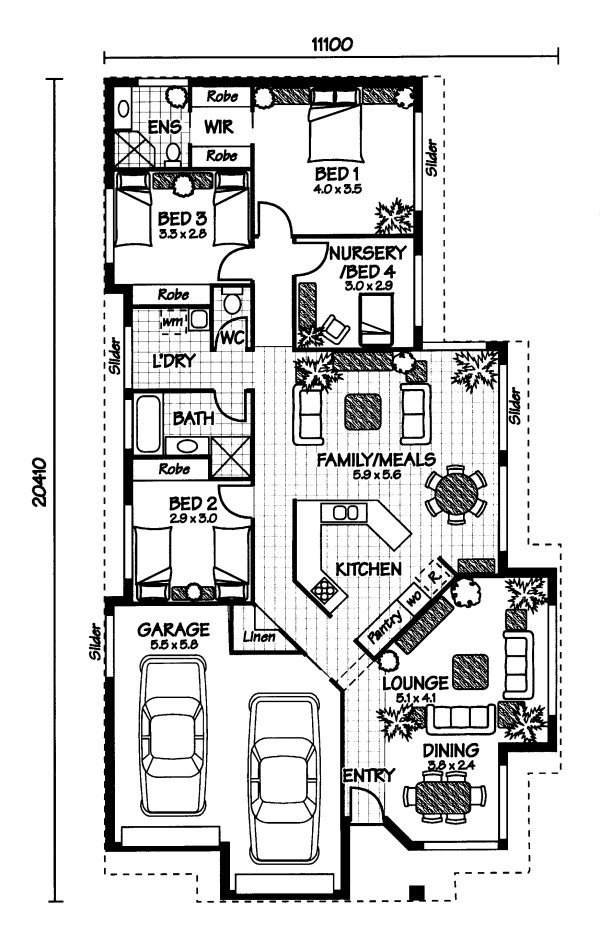 Australian house plans home design for Open plan house designs australia
