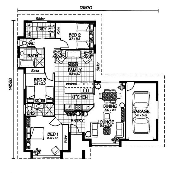 Australian House Plans Heron Floor Plan
