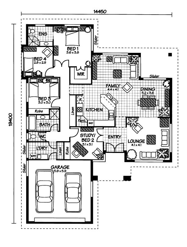 Australian House Plans Hinchinbrook Floor Plan