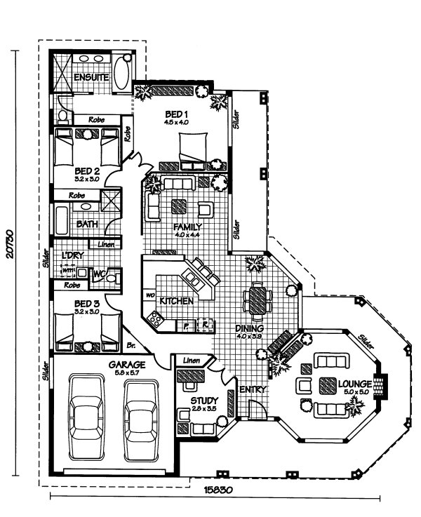 Australian House Plans Sudbury Floor Plan